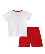 Smart Baby Baby Boys T-Shirt With Brmuda Set, White/Red - SNGSS2137675