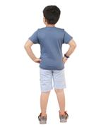 Genius Boys T-Shirt With Bermuda Set,Air Force Blue/Ice Blue-SNGSS2137074