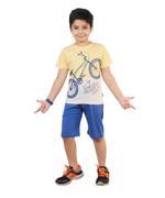 Genius Boys T-Shirt With Bermuda Set,Lemon/Blue-SNGSS2137248