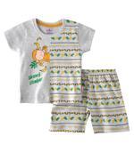 Smart Baby Baby Boys T-Shirt With Bermuda Set,Light Melange - SNGSS2137754