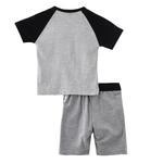 Genius Boys T-shirt With Bermuda Set,Grey Melange,SNGS2034798