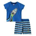 Smart Baby Baby Boys T-shirt With Bermuda Set,Royal Blue/Multi - SNGS2034952