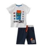 Genius Boys T-shirt With Bermuda Set,White/Navy ,SNGS2034789