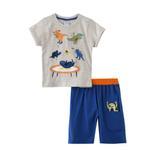 Genius Boys T-shirt With Bermuda Set,Melange/Blue ,SNGS2034699