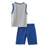 Genius Boys T-shirt With Bermuda Set,Grey Melange/Royal Blue ,SNGS2034784