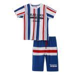 Genius Boys T-shirt With Bermuda Set,White/Royal Blue ,SNGS2034889