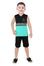 Genius Boys T-Shirt With Bermuda Set,Green/Black,SNGS2034647