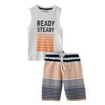 Genius Boys T-Shirt With Bermuda Set,White,SNGS2034662