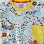 Smart Baby Baby Boy T-Shirt With Bermuda Set, White/Yellow - SNGS2035045