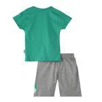 Genius Boys T-Shirt With Bermuda Set,Green/Grey,SNGS2034844