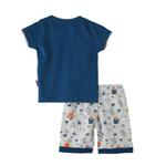 Smart Baby Baby Boys T-Shirt With Bermuda Set,Blue/White,SNGS2035031
