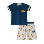 Smart Baby Baby Boys T-Shirt With Bermuda Set,Blue/White,SNGS2034990