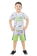 Genius Boys T-Shirt With Bermuda Set -White/Multi,SNGS2034674