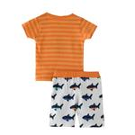 Smart Baby Baby Boy T-shirt With Bermuda Set,Orange/White,SNGS2034998