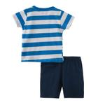 Smart Baby Baby Boy T-Shirt With Bermuda Set, Navy - SNGS2034972