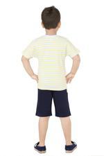 Genius Boys T-Shirt With Bermuda Set -White/Navy,SNGS2034675