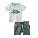 Smart Baby Baby Boy T-Shirt With Bermuda Set, White/Camouflage - SNGS2035095