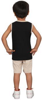 Genius Boys T-shirt With Bermuda Set,Black/Beige,SIMGS20GSL004