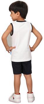 Genius Boys T-shirt With Bermuda Set,White/Black,SIMGS20GSL011