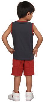 Genius Boys T-shirt With Bermuda Set,Dark grey/Rust SIMGS20GSL014