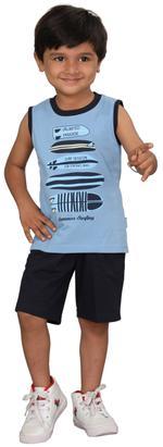Genius Boys T-shirt With Bermuda Set,Light Blue /Black,SIMGS20GSL017