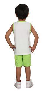 Genius Boys T-shirt With Bermuda Set, White/Lime,SIMGS20GSL021