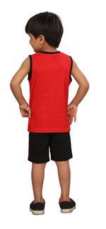Genius Boys T-shirt With Bermuda Set,Red/Black,SIMGS20GSL028