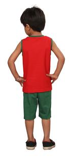 Genius Boys T-shirt With Bermuda Set,Red/Dark Green,SIMGS20GSL029