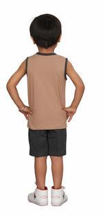 Genius Boys T-shirt With Bermuda Set,Brown/charcoal Grey,SIMGS20GSL030