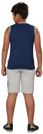 Genius Boys T-shirt With Bermuda Set,Dark Blue /Grey,SIMGS20GSL033