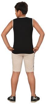 Genius Boys T-shirt With Bermuda Set,Royal Black/Beige,SIMGS20GSL034