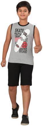 Genius Boys T-shirt With Bermuda Set,Navy Grey/Black SIMGS20GSL035
