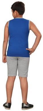 Genius Boys T-shirt With Bermuda Set,Royal Blue/Grey,SIMGS20GSL036