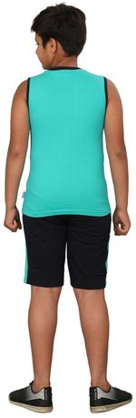 Genius Boys T-shirt With Bermuda Set,Sea Green/Navy Blue,SIMGS20GSL040