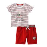 Smart Baby Baby Boy T-Shirt With Bermuda Set, Red - SNGS2035104