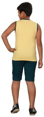 Genius Boys T-shirt With Bermuda Set,Butter Lemon/Teal Green SIMGS20GSL050