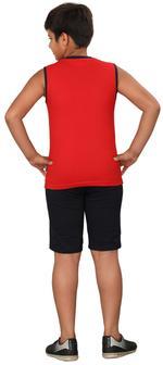 Genius Boys T-shirt With Bermuda Set,Red/Navy Blue,SIMGS20GSL055