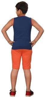 Genius Boys T-shirt With Bermuda Set,Grey/Sea Green,SIMGS20GSL060