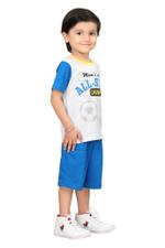 Genius Boys T-shirt With Bermuda Set,Grey/Blue,SIMGS20GBC001