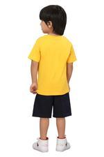 Genius Boys T-shirt With Bermuda Set,Yellow/Navy,SIMGS20GBC003