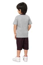 Genius Boys T-shirt With Bermuda Set,Grey/Dark Wine SIMGS20GBC005
