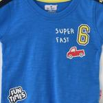 Smart Baby Baby Boy T-Shirt With Bermuda Set, Royal Blue/Yellow - SNGS2035060