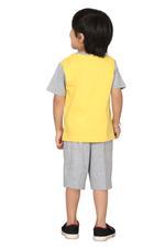 Genius Boys T-shirt With Bermuda Set,Yellow/Grey SIMGS20GBC010