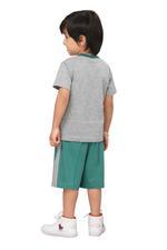 Genius Boys T-shirt With Bermuda Set,Grey/Sage Green,SIMGS20GBC020