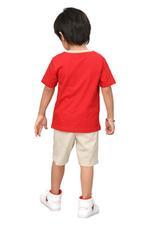 Genius Boys T-shirt With Bermuda Set,Red/Beige,SIMGS20GBC024