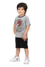 Genius Boys T-shirt With Bermuda Set,Grey/Black,SIMGS20GBC040