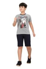 Genius Boys T-shirt With Bermuda Set,Grey/Navy Blue ,SIMGS20GBC045
