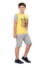 Genius Boys T-shirt With Bermuda Set,Aqua/Grey SIMGS20GBC050