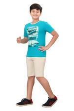 Genius Boys T-shirt With Bermuda Set,Turquoise/BeigeSIMGS20GBC054