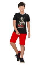 Genius Boys T-shirt With Bermuda Set,Black/Red,SIMGS20GBC058